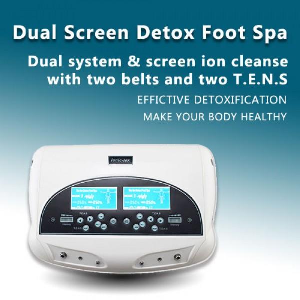 Dual Screen Detox foot spa